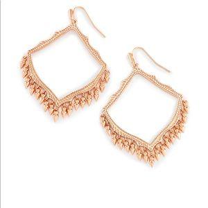 Lacy Drop Earrings in Rose Gold